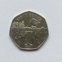 VICTORY VE Day (Letter I) Isle of Man (Manx) 50p Fifty Pence 2020 Uncirculated