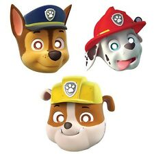 Party Supplies Birthday Decorations Boys Paw Patrol Masks Pack of 6