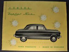 1954 Consul & Zephyr English Ford Catalog Sales Brochure Excellent Original 54