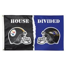 Pittsburgh Steelers Baltimore Ravens Deluxe Flag 3 x 5 House Divided