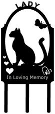Kitty Cat Pet Memorial Grave Marker Sign Cemetery Stake Personalized Metal Art