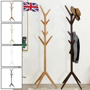Wooden Coat Stand Coat/Umbrella/Hat Jacket/Floor Standing Rack Clothes Hanger