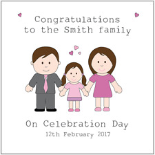 Personalised Celebration Day card Adoption card