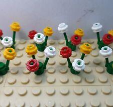 New Lego 50 × Mixed Flowers & 16 Stems Job Lot Bulk