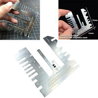 Stainless Steel Ruler 21 Points Folding for 1/144 1/100 Gundam Ship Etched Sheet