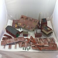 HO Scale Built Building Lot Saloon Factory Train Shed Stall BROKEN Parts Vintage
