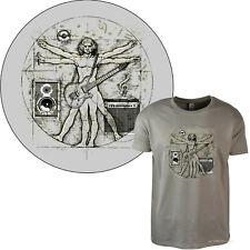 Gitarren Music Da Vinci Rockmusik Musiker T-Shirt Musikschule Studio *2080 beige