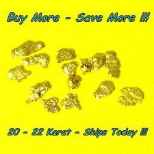 .125 Gram Placer Gold Natural Raw Alaskan Nugget Flake Fines Panned Real Alaska
