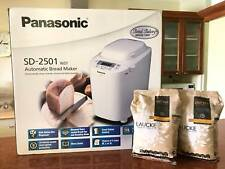 Panasonic automatic bread machine with 2 packs of bread flour