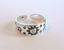 Sterling Silver (925)  Adjustable  Sun, Moon Stars  Toe Ring  !!   Brand  New !!