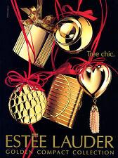 1993 Estee Golden compact Tree Chic collection xmas makeup Christmas MAGAZINE AD