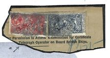EE51 1928 GB Seahorse Combination Part Maritime Wireless Telegraph Form PTS