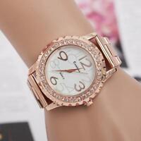 Men's Watch Crystal Rhinestone Big Number Watch Analog Quartz Women Wrist Watch