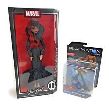 Madame Alexander Marvel Fan Girl Black Widow Red Avengers 13.5 & Playmation Doll