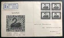 1954 Albany Australia First Day Cover Fdc Philatelic Exhibition