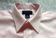 Lord & Taylor Dress Shirt Size: 12 New Ship Free Pink Long Sleeves 👔 Рубашка