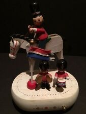 Vintage Animated Horse with Wooden Soldiers Music box, Enesco 1981