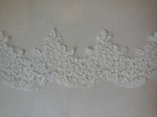 Vintage style ivory floral lace trim Bridal Wedding lace trim dress trim PerYard