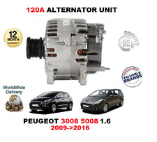 FOR PEUGEOT 3008 5008 1.6 2009>2016 120A 12V ALTERNATOR UNIT WITH PULLEY