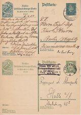 DR P 186, P 187 2x Ganzsache, gel. in Halle u. Lüben - Berlin 1929, GA Dt. Reich