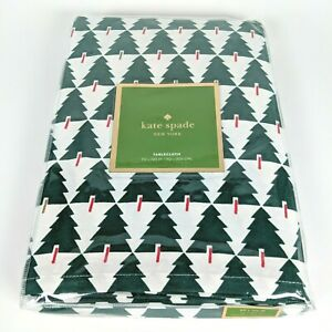 Kate Spade New York - SPRUCE STREET 60x120in Oblong Tablecloth - Green Xmas Tree