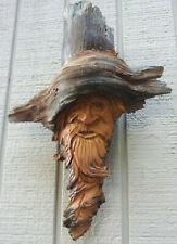 Wind Spirits Carvings Yard Gaurd Art Statue Decor Bigfoot Face Garden Gnome Wood