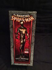 SPIDER-MAN BLACK FAUX BRONZE STATUE BY BOWEN DESIGNS, SCULPTED BY RANDY BOWEN
