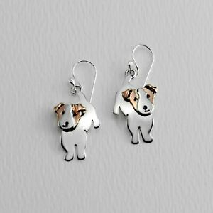 Far Fetched JACK RUSSELL TERRIER Dog EARRINGS Sterling Silver Dangle Jewelry