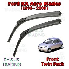 "Ford KA Aero Windscreen Wiper Blades Wipers Set Hook MK1 (1996 - 2009) 19"" 17"""