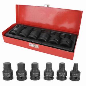 6pcs 3/4 inch Drive Impact Hex Allen Key Socket Bit Set 14/17/19/21/22/23mm UK