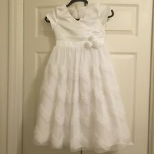 bonnie jean flower girl special occasion dress size 8 white