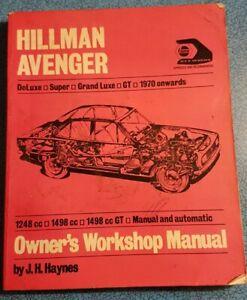 Haynes Owner's Workshop Manual: Hillman Avenger