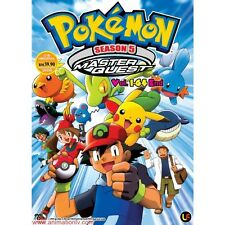 DVD Pokemon Season.5 Master Quest (TV 1 - 64 End) DVD + Free Mystery Gift