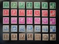 1940 Famous Americans #859-893 Complete Set MNH OG F/VF CV $33