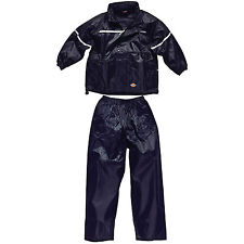 Dickies bambini NAVY TUTA IMPERMEABILE Age 3-4 Years Vermont wp11000 per Blu