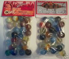 2 BAGS OF HEDDONS FISHING LURES  COLORED MARBLES