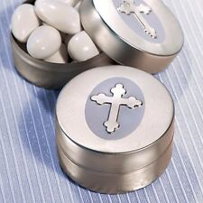 50 Silver Cross Design Mint Tins Favor Baptism Christening Gift Favors