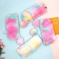 Girl Cute Plush Fuzzy Fluffy Pencil Case Makeup Pouch Coin Purse Storage Bag