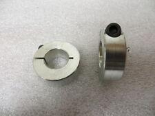 "3/4"" Single Split Shaft Collars Zinc Plated 1 Piece Clamp Collar - 2 pc"