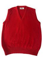 Vintage Jantzen Men's V-Neck Sweater Vest Red Made In The USA M205 Size Medium