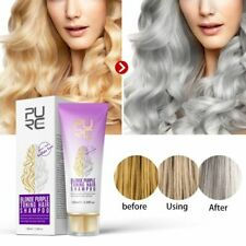 PURC Blonde Purple Hair Shampoo Removes Yellow Brassy Tones for Silver Ash Free
