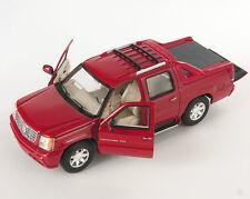 Livraison rapide Cadillac Escalade EXT 2002 pick-up rouge welly modèle 1:24 NEUF (430)