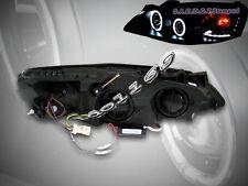 05-09 PONTIAC G6 BLACK TWIN CCFL HALO PROJECTOR HEADLIGHTS LED PAIR 2006 2007