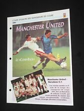 MANCHESTER UNITED FC BARCELONA 1991 FINALE C2 EUROPEAN CUP FICHE FOOT PASSION XL