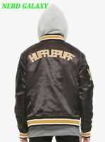 Harry Potter $74 HOT TOPIC Hufflepuff Varsity Letterman Mens MED Hoodie Jacket