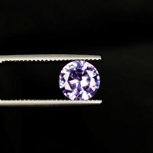 Round Cut Violet Cubic Zirconia 3.50 Ct. 7 mm Faceted Loose Gemstone B-9433