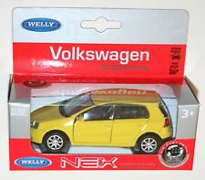 Welly - VW Volkswagen GOLF Mk5 (Yellow) Die Cast Model - Scale 1/34-1/39