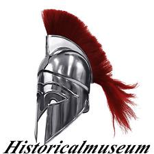 Medieval Greek Corinthian Helmet HM725 Red Plume-Spartan Costume Armor For Sale