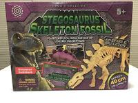 Stegosaurus Skeleton Fossil Poseable Dinosaur Dino Horizons 40cm Long New