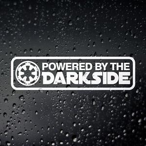 Powered by The Dark Side Funny Car Sticker - JDM Drift Rat Look Diesel Euro DUB
